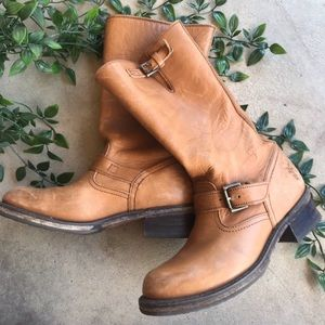 Frye Tan Camel Veronica Short Boots